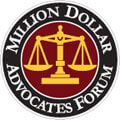 Logo Recognizing Jones Wilson, LLP's affiliation with Million Dollar Advocates